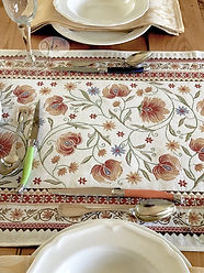 Sillans Red Tapestry Runner