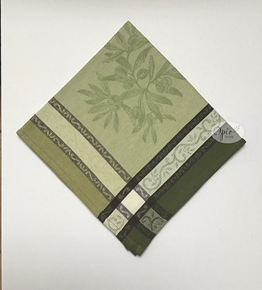 Olives Green Jacquard Napkin - set of two