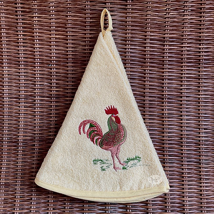 Round Towel - Rooster Yellow