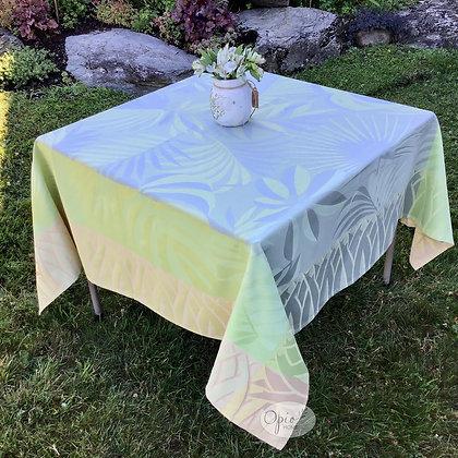 Balata Yellow Jacquard Tablecloth - Final Sale