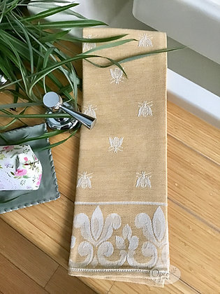 Bee Tea Towel -Yellow