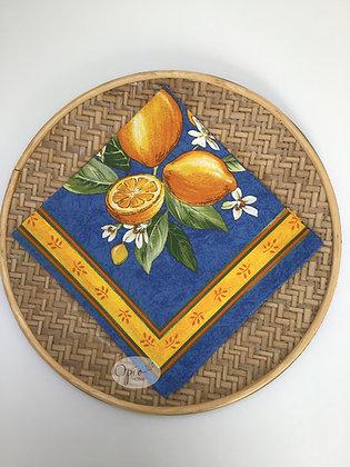 Citron Blue Napkin - set of two