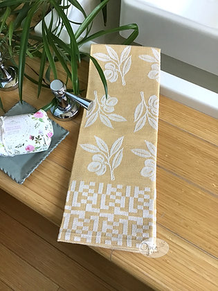 Olive Tea Towel - Yellow
