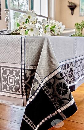 Marius Black Jacquard Tablecloth