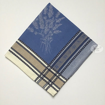 Senanques Ecru/Blue Jacquard Napkin - set of two