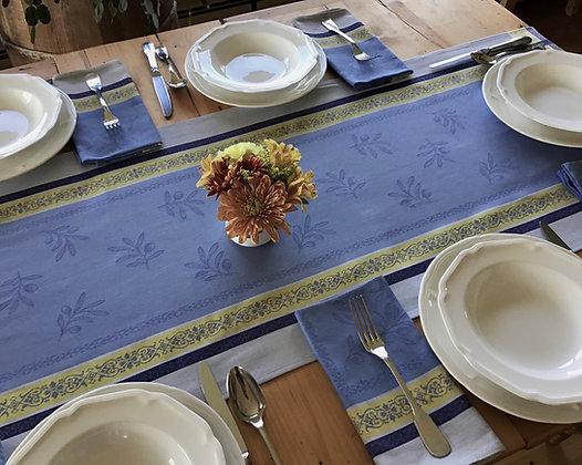 Olivia Blue Table Runner
