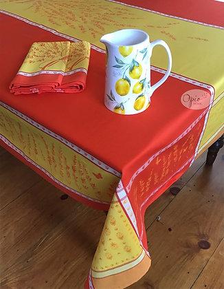 Grignan Citrus Jacquard Tablecloth