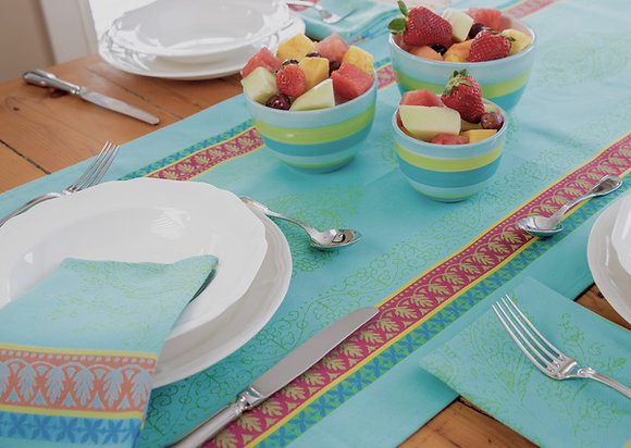Cassis Turquoise Table Runner