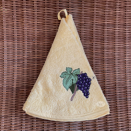 Round Towel - Grapes Yellow