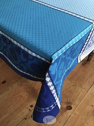 Marius Blue Jacquard Tablecloth