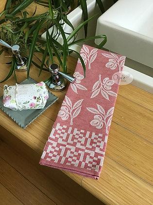 Olive Tea Towel - Red