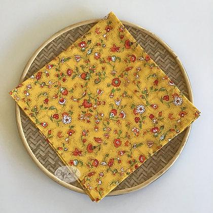 Gentiane Yellow Napkin - set of two