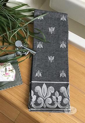 Bee Tea Towel - Black