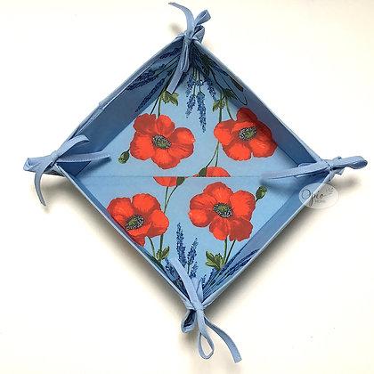 Blue Clair Poppy Basket