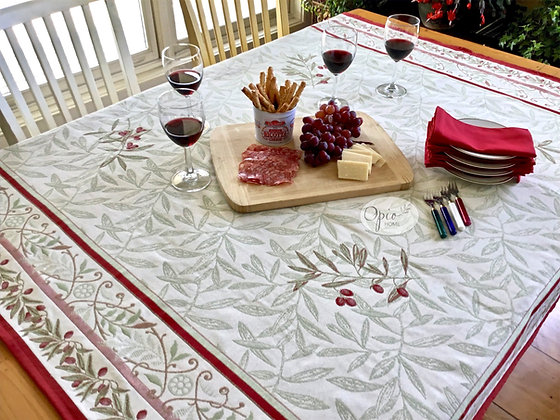 Auriol Red Tapestry Cloth - $120 - $195