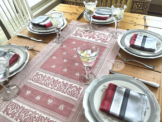 Bee Table Runner - Red  -  $55-85