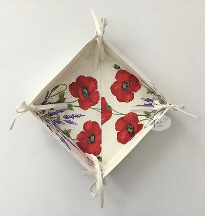 Ivory Poppy Basket