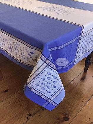 Grignan Blue/White Jacquard Tablecloth - $79-159