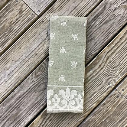 Bee Tea Towel - Sage Green