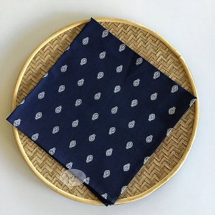 Bastide Navy Allover Napkin - set of two