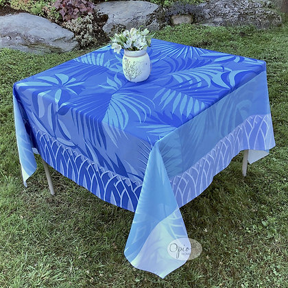 Balata Blue Jacquard Tablecloth - Final Sale