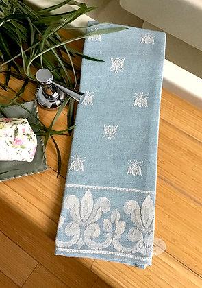 Bee Tea Towel - Light Blue