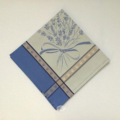 Grignan Blue/White Jacquard Napkin - set of two