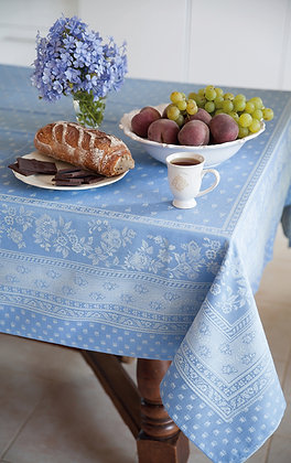 Durance Jacquard Tablecloth - Blue  $79-159