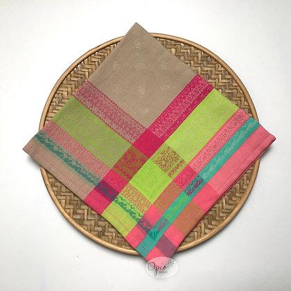 Kashmir Pink Jacquard Napkin - set of two