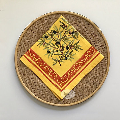 Clos Des Oliviers Yellow Napkin - set of two