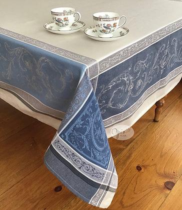 Versaille Blue Jacquard Tablecloth - $79-159