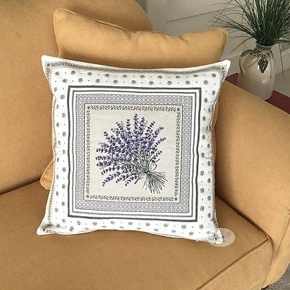 Castillon Lavande Ecru Pillow