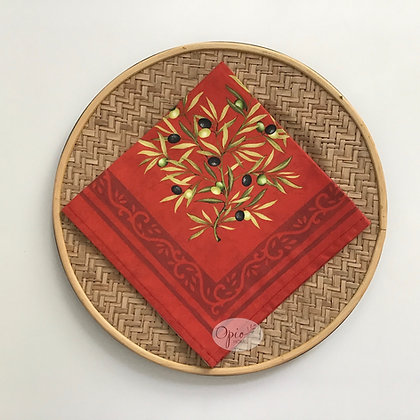 Clos Des Oliviers Red Napkin - set of two
