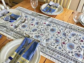 Blue Sillans Tapestry Runner