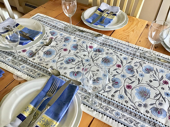 Sillans Blue Tapestry Runner
