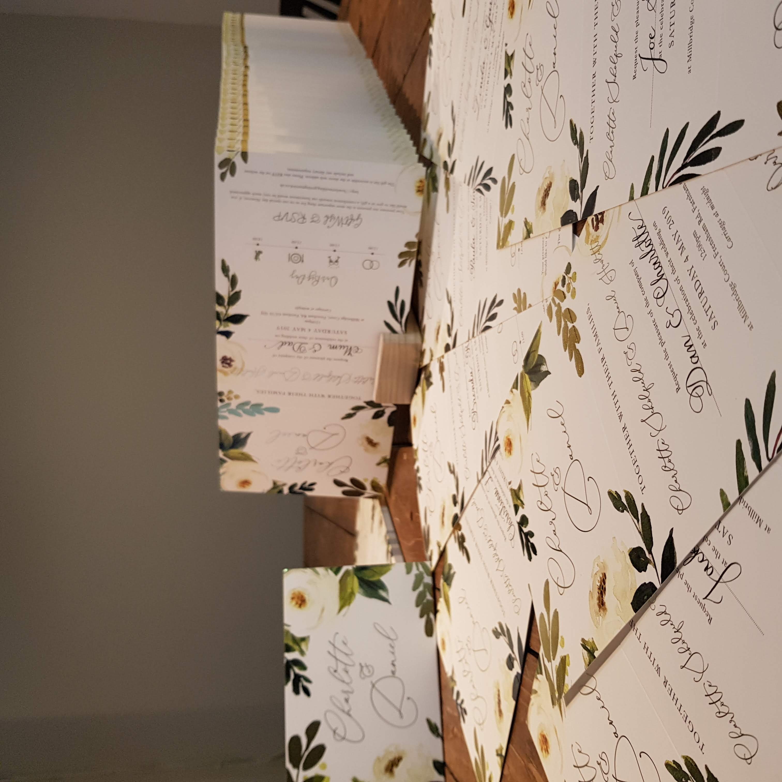 Hand written Wedding invitations