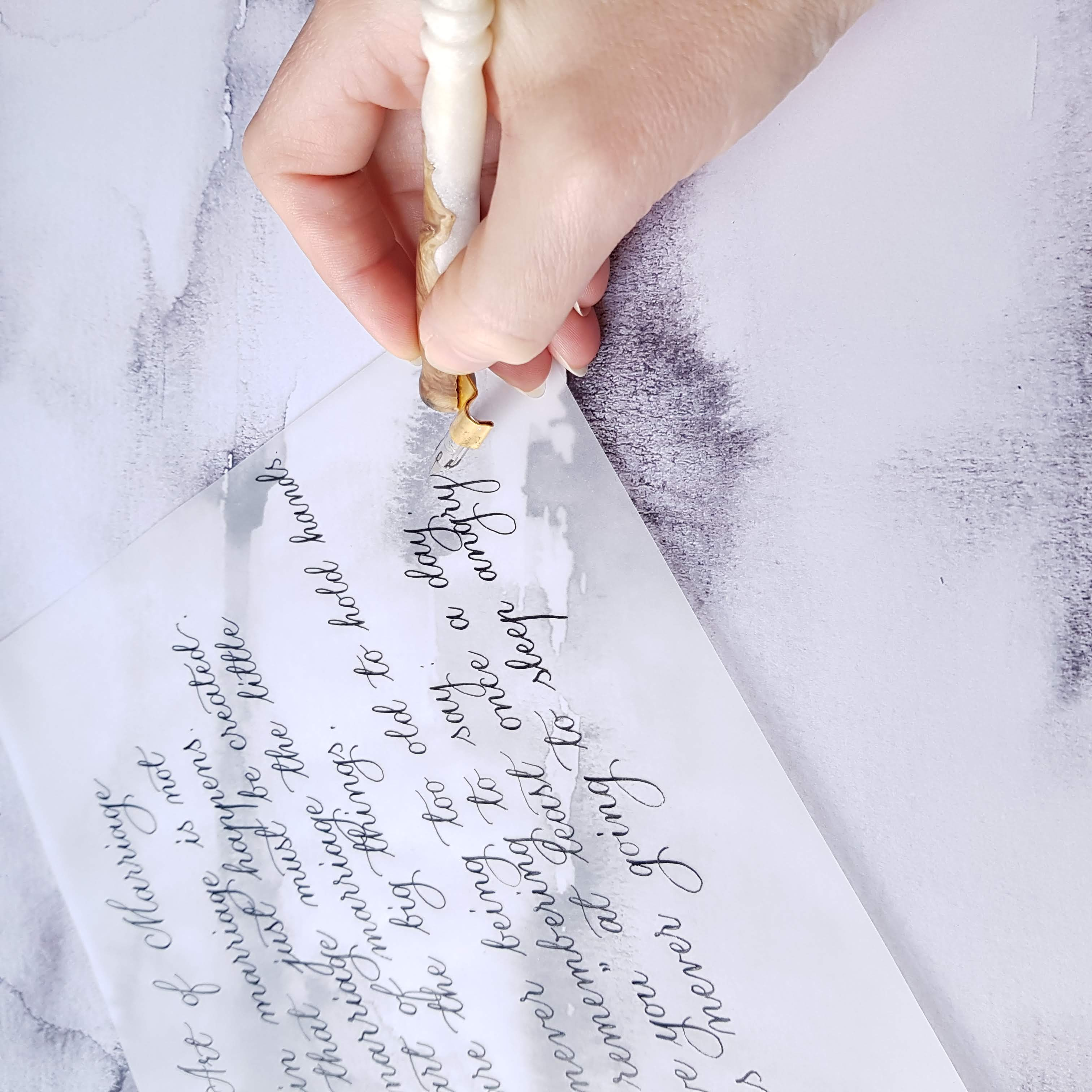 Hand written letters - vows