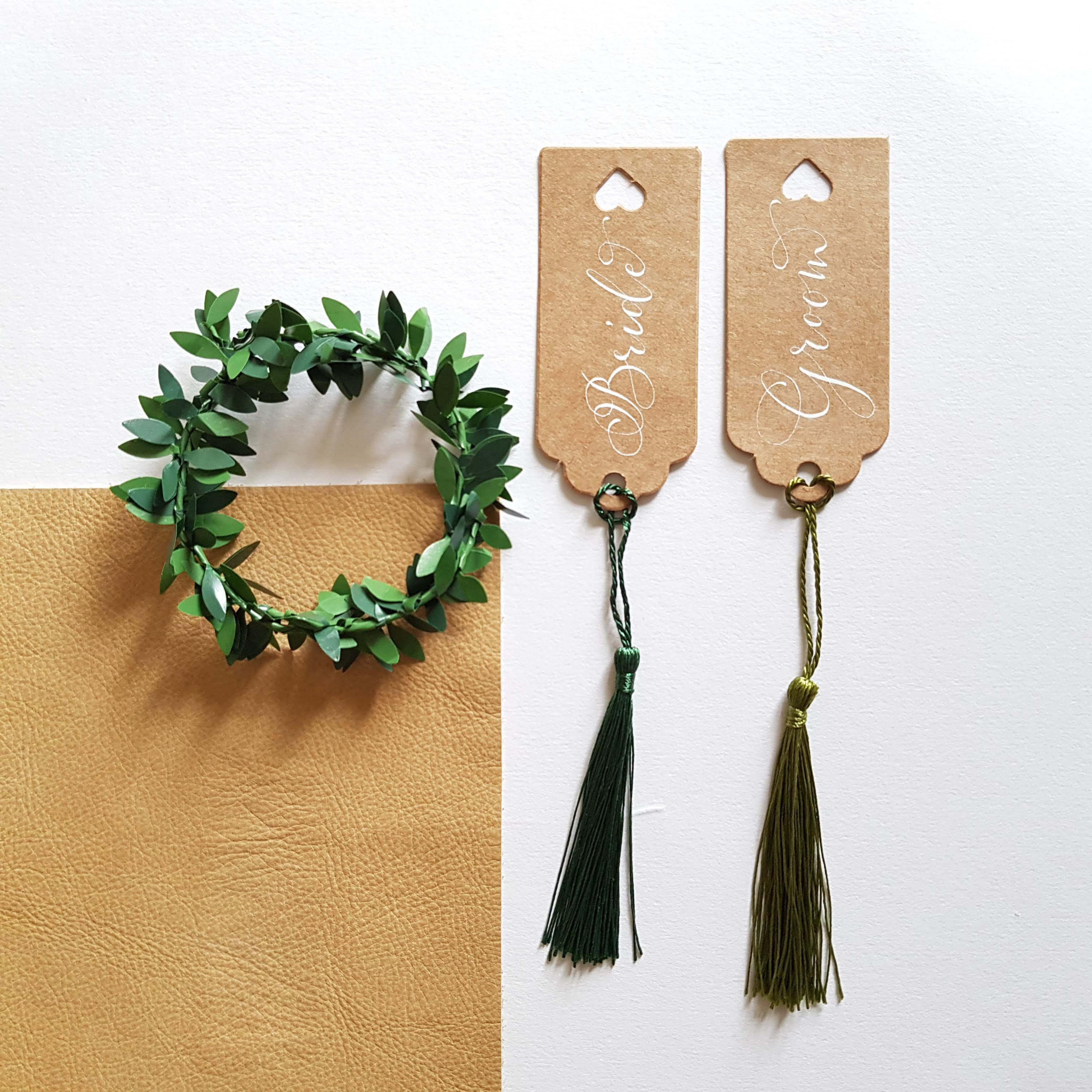 groom and bride tags