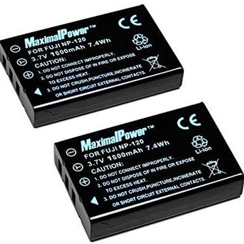 2 Pack NP-120 Batteries for the Multi Camcorder