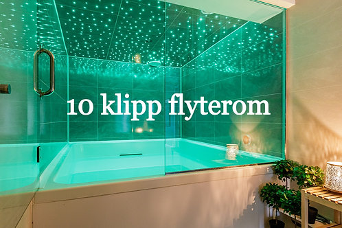 10 klipp Flyterom