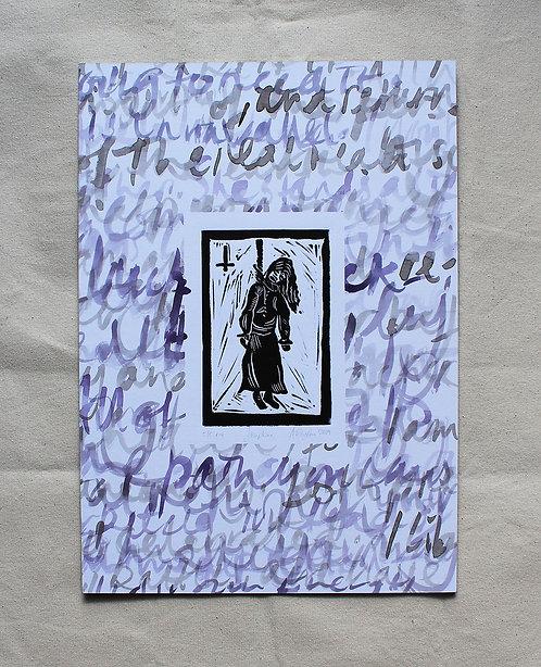 Annabel Pettigrew - Josephine Woodcut.