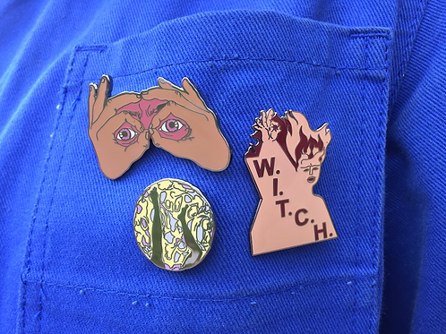 Anna Bunting- Branch, Enamel Badges