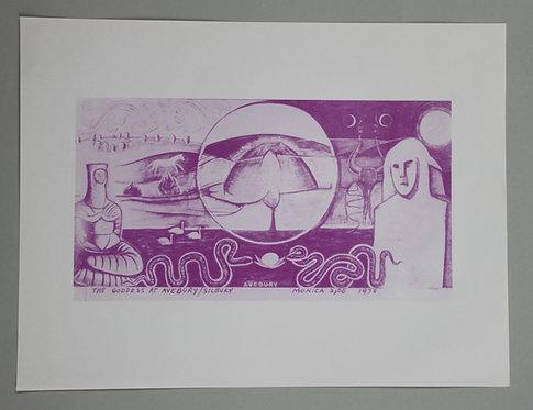 Monica Sjöö A3 Poster - The Goddess at Avebury