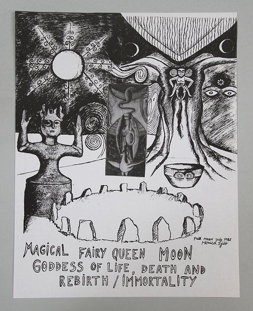 Monica Sjöö A3 Poster - Magical Fairy Queen