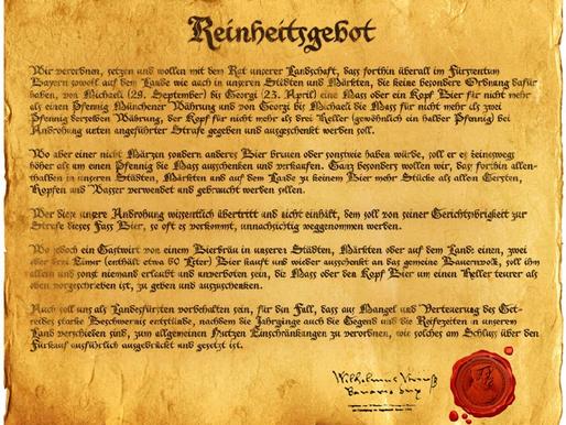 A Lei da Pureza Alemã não é sobre cerveja