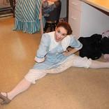 Stretching at intermission