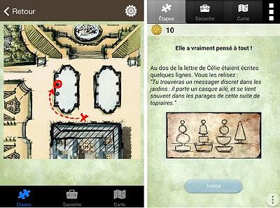Ecrans du jeu Noces à Versailles (Sagara / Furet Company)