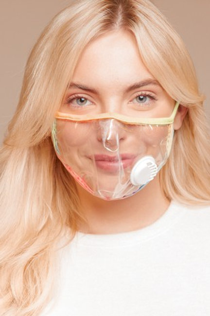 Clear Vinyl Face Mask W/ Breathable Valve Vent