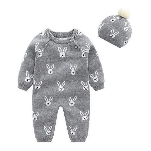 Baby Girls Clothes Set Soft Cotton Knitted Newborn Infant Boys