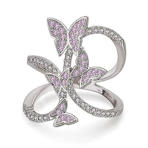 Cute Butterfly Ring For Women Zircon Luxury Finger Shaped Accessorie